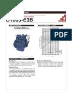 Kubota 05 Series d1005 e3b Specifications