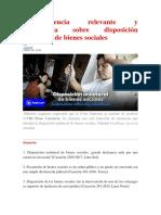 Jurisprudencia Relevante y Actualizada Sobre Disposición Unilateral de Bienes Sociales 2019