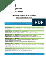 Cronograma hisyología