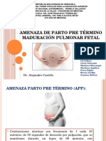 Amenaza de Parto Pre Término Maduración Pulmonar Fetal