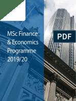 MSc Finance and Economics Brochure 2019