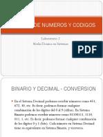 Laboratorio 2 - Sistemas de Numeros y Codigos
