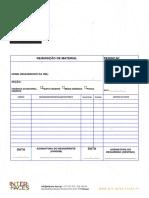 Template Folha Requisição de Material