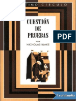 028 Cuestion de Pruebas - Nicholas Blake