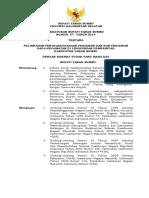 PERBUP NO. 57 Tahun 2014 Tentang Pelimpahan Penyelenggaraan Perizinan Dan Non Perizinan Pada Kecamatan Di Lingkungan Pemerintah Kabupaten Tanah Bumbu