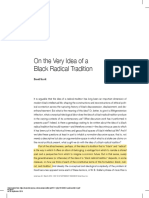 On the Very Idea of a Black Radical Tradition