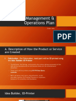 Management & Operations Plan