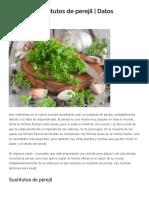 7 Mejores Sustitutos de Perejil _ Datos Orgánicos _ Salud Limpia