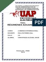 Monografía de Régimenes Aduaneros