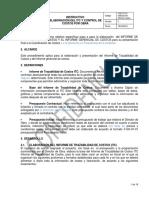 I-GC-01-01 Instructivo Elaboración Informe Costo