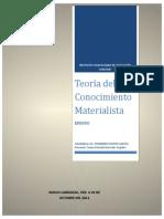 70157959 Ensayo Teoria Del Conocimiento Materialista