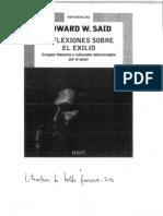 Edward Said Reflexiones Sobre El Exilio