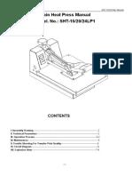 SHT15-20,24LP1 Manual de Sublimadora