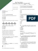 Acumulativa Matemáticas II Periodo Grado3