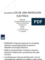 Elementos de Una Instalcion Electrica