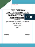 TERM PAPER Corporate Social Responsibility