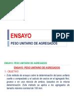ENSAYO N°  PESO UNITARIO