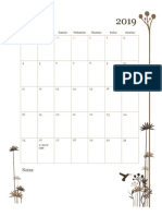 monthly calendar - fall 2019  1