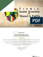 Cartilla Premio Juana 2019