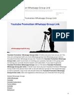 Whatsappgrouplink.org-Youtube Promotion Whatsapp Group Link