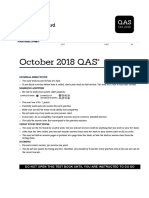 SAT - 2018 October US QAS Answers
