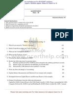 2008 Accountancy Question Paper