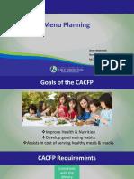Menu Planning Training
