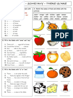 Food Drinks Some Any There Isare Grammar Drills 97846