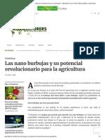 Las nano burbujas y su potencial revolucionario para la agricultura