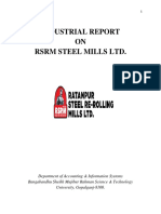 Industrial Report on production process of steel mills Ltd
