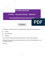 Test Savoirs Base Francais