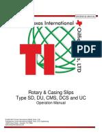 TI Manual Rotary Casing Slips OM014-D