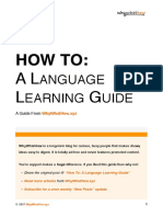 WWH How to - Language Learning Guide