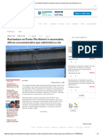 Rachadura Na Ponte Rio-Niterói é Necessária, Afirma Concessionária Que Administra a Via