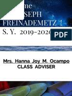 Orientation for My Advisory Class 2019-2020