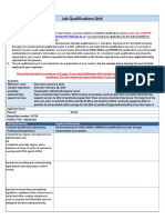 Job Qualifications Grid