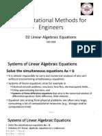 02 Linear Algebraic Equations (F18)