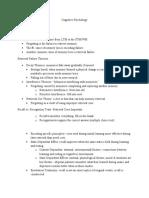 Cognitive Psychology Chapter 7, 8, & 9