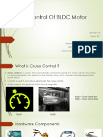 Cruise Control of bruhless dc motor