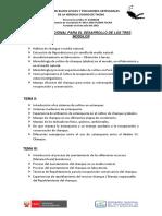 Temario Adicional Para El Desarrollo de Los Tres Modulos
