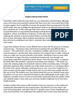 Sample Reflection Paper