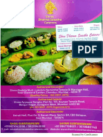 Catering Menu - SDS Caterers