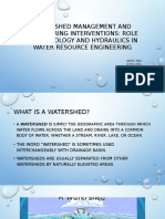 Characteristics of Watershed