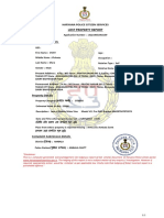 Lost Property Registration Acknowlegment