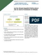 WHO Guidelines for Chronic Hepatitis B
