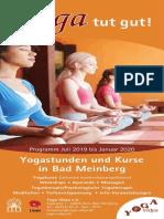 Yoga Vidya Abendkurse 2019 2. Halbjahr