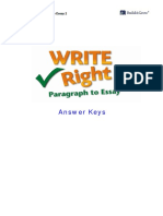 Write Right 2 -Paragraph to Essay -Answer Keys