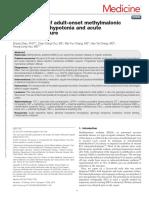 Management of Adult Onset Methylmalonic Acidemia.58