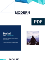 Modern Free Powerpoint Template