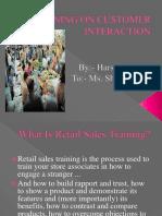 Training on Customer Interaction